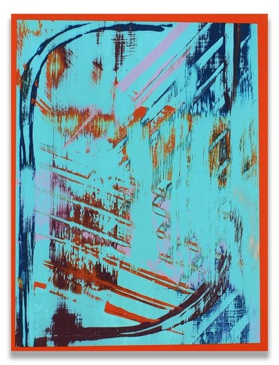 Acrylic on oak plywood